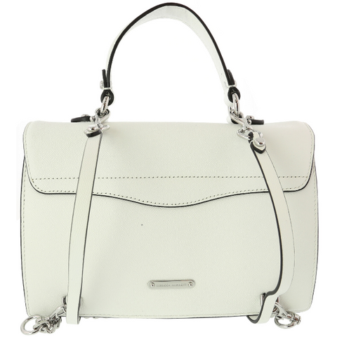 REBECCA MINKOFF Women's Jean Conv Backpack OPTIC WHITE