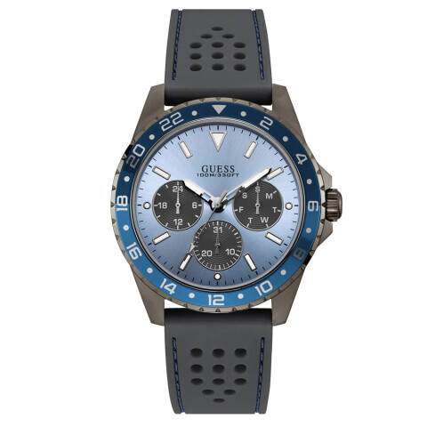 Guess Men's Odyssey U1108G6 Blue Silicone Quartz Fashion Watch