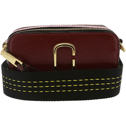 Marc Jacobs Snapshot Leather Shoulder Bag Cranberry Red