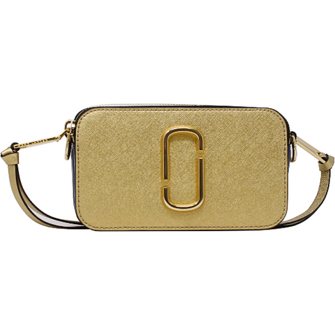 Marc Jacobs Snapshot Leather Shoulder Bag Gold