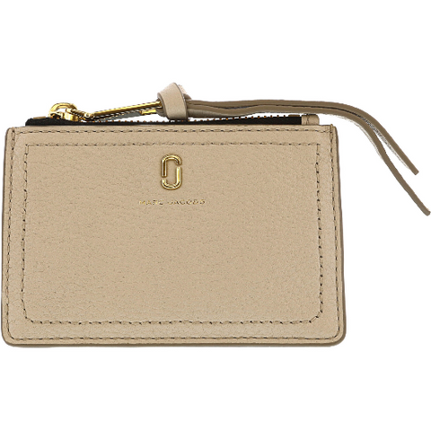 Marc Jacobs Women's Softshot Multi Leather Credit Card Wallet Cream