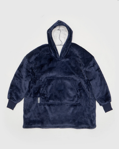 Miz Casa & Co Luxury Hooded Kids Blanket Navy Blue