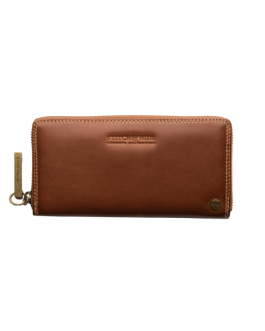 STITCH & HIDE LEATHER Christina ZIP AROUND Wallet - Classic Collection MAPLE BROWN