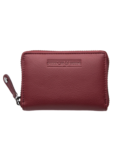 STITCH & HIDE LEATHER Hunter ZIP AROUND Card Wallet CHERRY RED