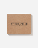 STITCH & HIDE LEATHER WILLIAM ZIP AROUND WALLET BLACK
