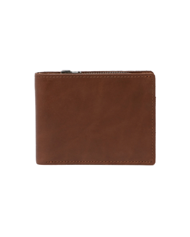 STITCH & HIDE LEATHER BILLY WALLET BROWN