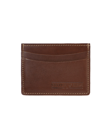 STITCH & HIDE LEATHER HERBERT CARDHOLDER BROWN