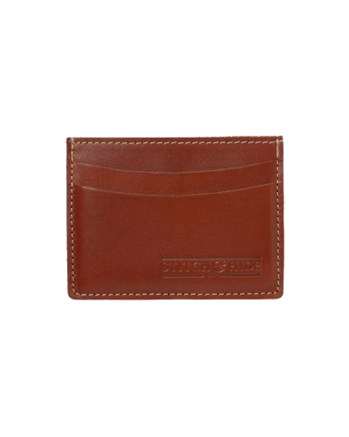 STITCH & HIDE LEATHER HERBERT CARDHOLDER TAN