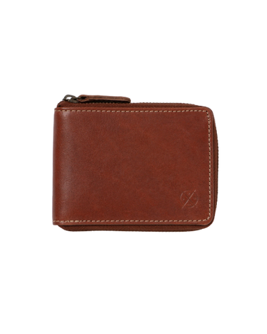 STITCH & HIDE LEATHER WILLIAM ZIP AROUND WALLET TAN