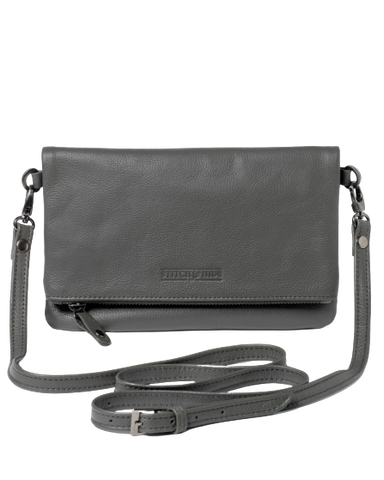 Stitch & Hide Leather Piper Clutch Crossbody Bag - FREE Keyring