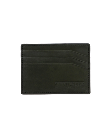 STITCH & HIDE LEATHER ALFRED CARDHOLDER BLACK