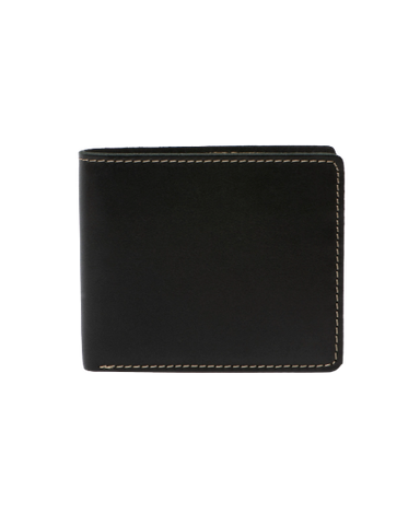 STITCH & HIDE LEATHER CONNOR WALLET BLACK