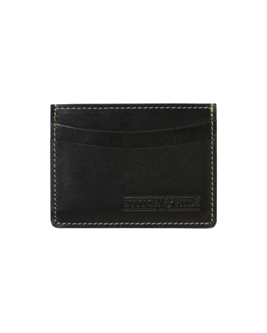 STITCH & HIDE LEATHER HERBERT CARDHOLDER BLACK