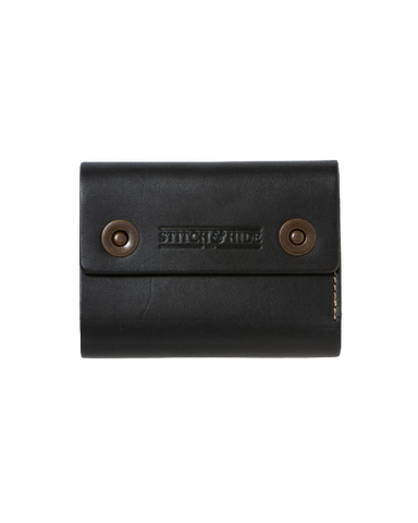 STITCH & HIDE LEATHER 2BUTTON WALLET