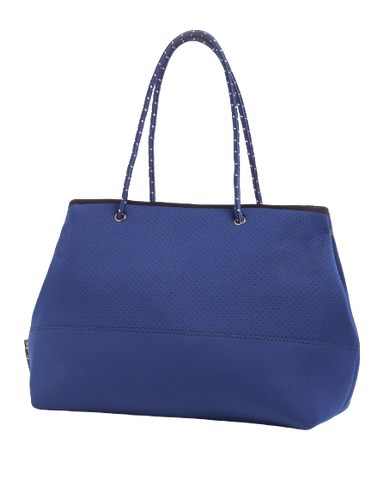 MIZ CASA & CO Ivy Neoprene Navy Blue Tote Bag