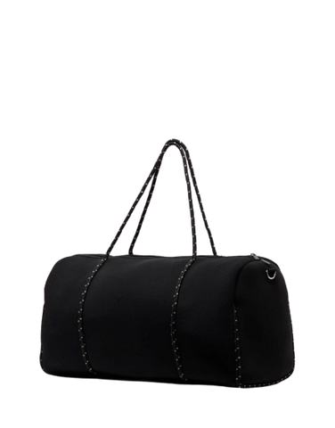 MIZ CASA & CO Piper Neoprene Overnight Duffle Bag Black