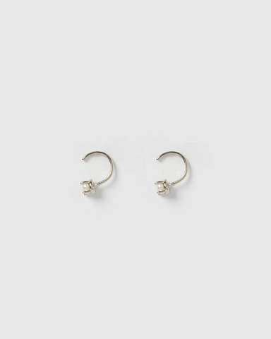 IZOA SWIFT STUD PEARL EARRINGS SILVER