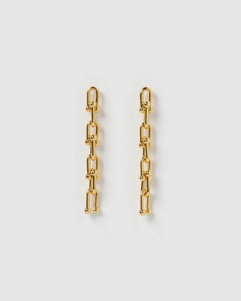 IZOA VIENNA DROP EARRINGS GOLD