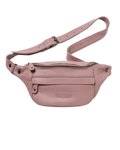 STITCH & HIDE LEATHER BAILEY HIP/CROSSBODY BAG DUSTY ROSE PINK - FREE KEYRING