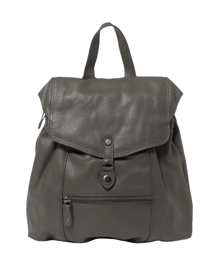 Stitch & Hide Leather Willow Backpack Charcoal Grey - FREE WALLET POUCH