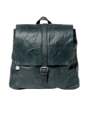 STITCH & HIDE WASHED LEATHER HAMBURG BACKPACK PETROL GREEN - FREE WALLET POUCH