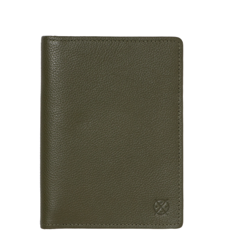 Stitch & Hide Leather Atlas Passport Holder Travel Wallet Olive Green