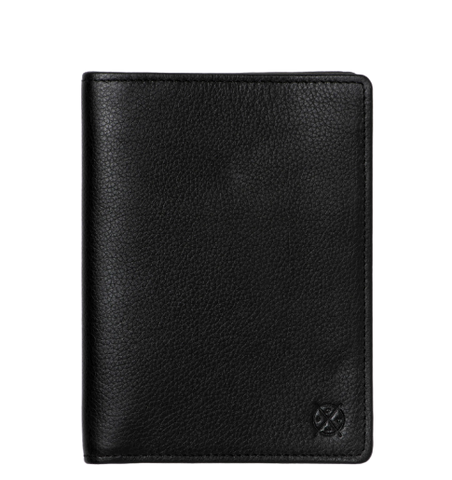 Stitch & Hide Leather Atlas Passport Holder Travel Wallet Black