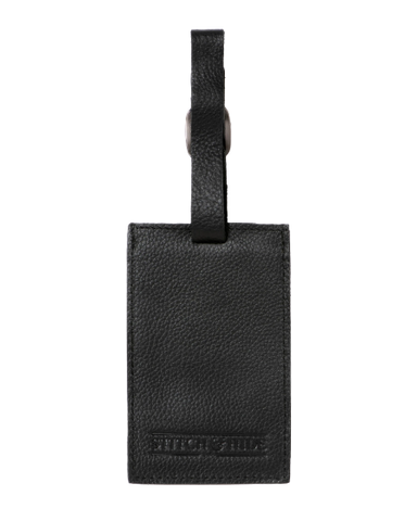 Stitch & Hide Leather Miles Luggage Tag Black