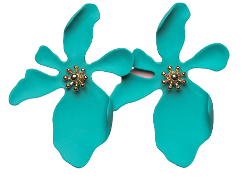 Zafino Orchid Large Earrings Jade Green