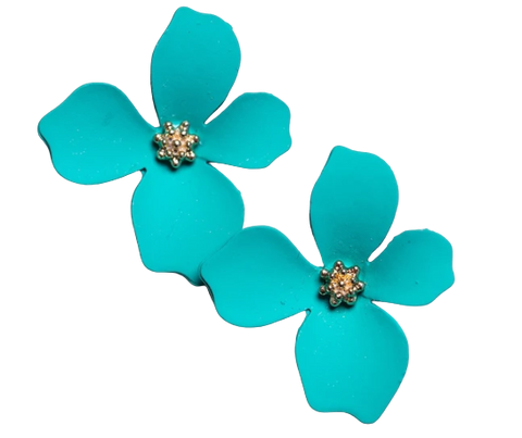 Zafino Flower Series Orchid Stud Earring Small Green