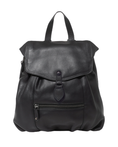 Stitch & Hide Leather Willow Backpack Black - FREE WALLET POUCH