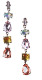Zafino Vintage Crystal Collection Annabelle Earrings with Pink Crystals