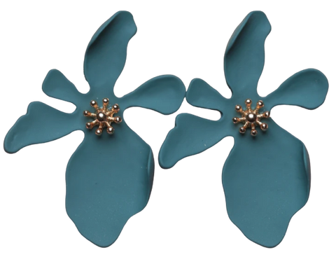 Zafino Orchid Large Earrings Blue
