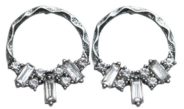 Zafino Vintage Crystal Collection Zoe Earring Antique Silver