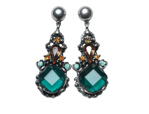 Zafino Vintage Crystal Collection Cathy Earring Green