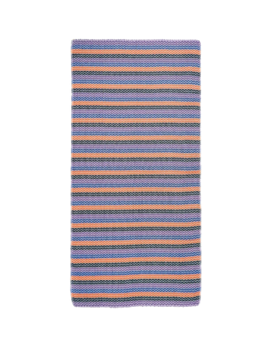 Miz Casa & Co Sardinia Turkish Towel Purple, Orange, Blue Stripe