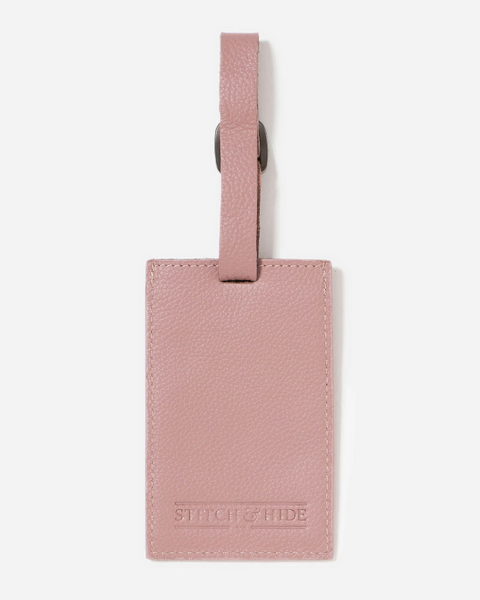 Stitch & Hide Leather Miles Luggage Tag Dusty Pink