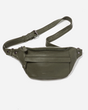 STITCH & HIDE LEATHER BAILEY HIP/CROSSBODY BAG OLIVE GREEN - FREE KEYRING