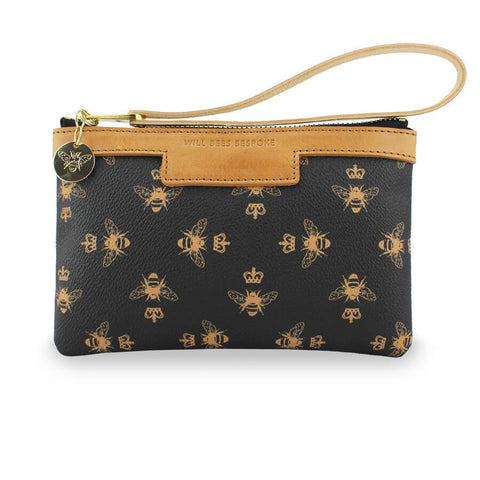 WILL BEES PERSONALISED Signature Mini Clutch Black