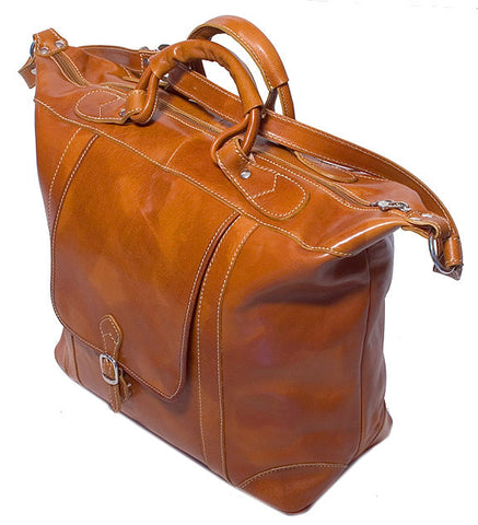 FLOTO Tack Leather Duffle Olive Honey Brown