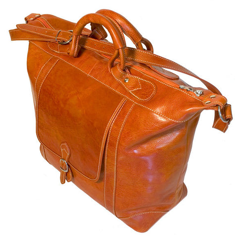 FLOTO Tack Leather Duffle Orange