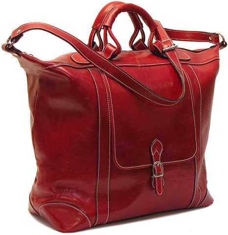 FLOTO Tack Leather Duffle Tuscan Red