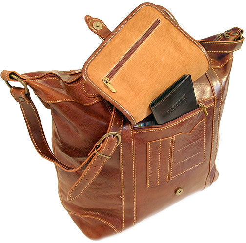 FLOTO Tack Leather Duffle Vecchio Brown