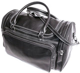 FLOTO Torino Leather Duffle Black