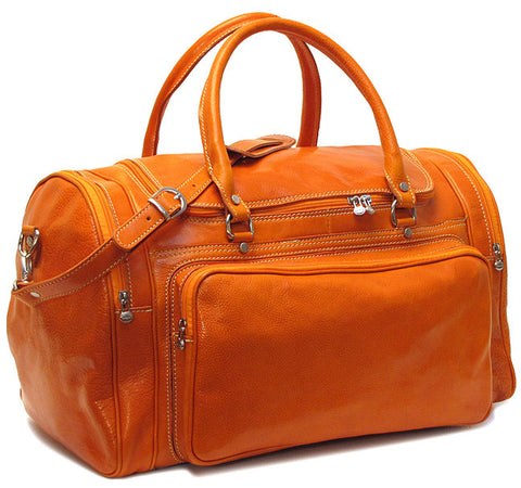 FLOTO Torino Leather Duffle Orange