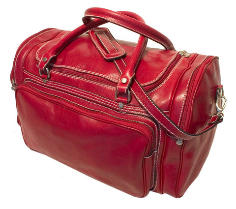 FLOTO Torino Leather Duffle Tuscan Red