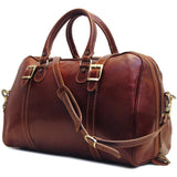 FLOTO Trastevere Leather Duffle Vecchio Brown