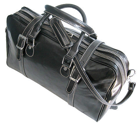 FLOTO Trastevere Leather Duffle Black