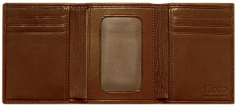 FLOTO Firenze Tri-Fold Wallet Chocolate Brown