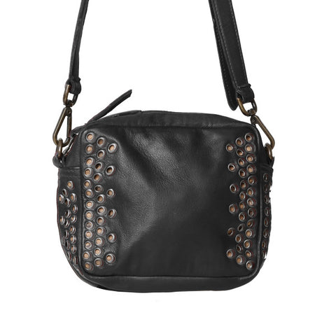 CADELLE LEATHER Trinity Mini Bag Black
